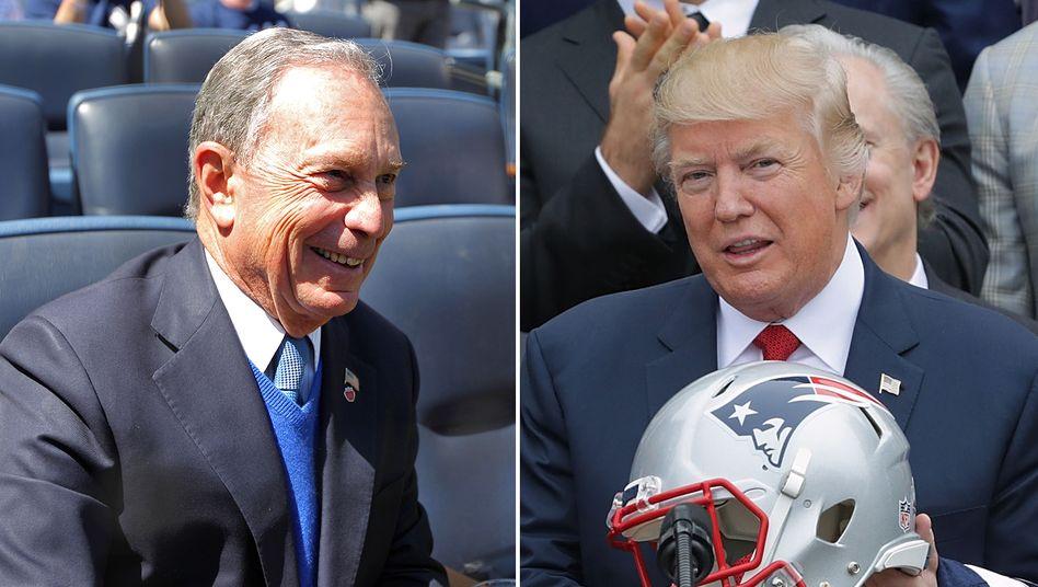 Wettstreit wie unter Schuljungen: US-Präsidentschaftsanwärter Michael Bloomberg (l.) und Amtsinhaber Donald Trump.