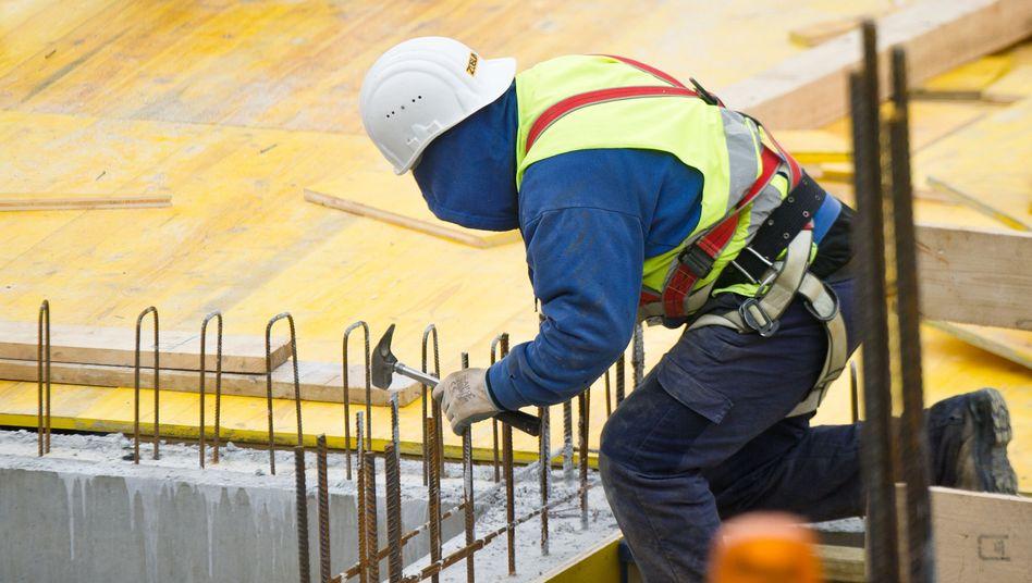 Bauarbeiter in Frankfurt: Zeichen einer Überhitzung?
