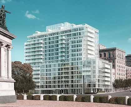 Glaspalast: Der Weltklasse-Architekt Richard Meier errichtet ein Condominium im Bauhaus-Stil mit 15 Geschossen in einer guten Gegend von Brooklyn. Das Interieur liefert der 72-jährige Pritzker-Preisträger gleich mit