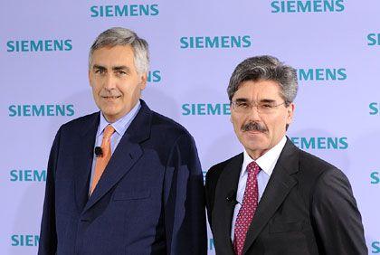 Beraterstopp: Siemens-Lenker Löscher (l.), Finanzchef Kaeser