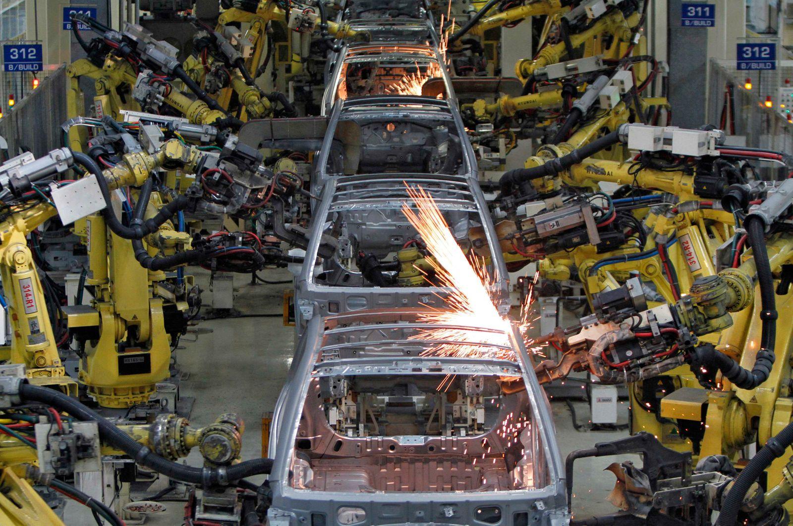 Hyundai / Produktion / Roboter