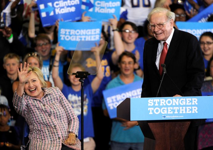 "Warren Buffett: Pro Hillary, contra ""The Donald"""