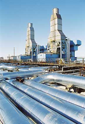 Gasprom Angreifer: Gestützt auf seine starke Rohstoffbasis und seine Position als wichtigster Staatskonzern, will der Gasförderer nun groß ins europäische Vertriebsgeschäft einsteigen. Attackierte: Öl- und Energieunternehmen wie die deutsche Eon-Ruhrgas. 231 Milliarden Dollar Börsenwert (18. Juli 2006)