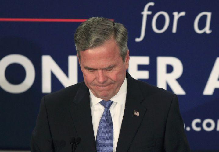 Verlierer Jeb Bush: Das Rennen ums Geld gewonnen, das um die Wähler nicht
