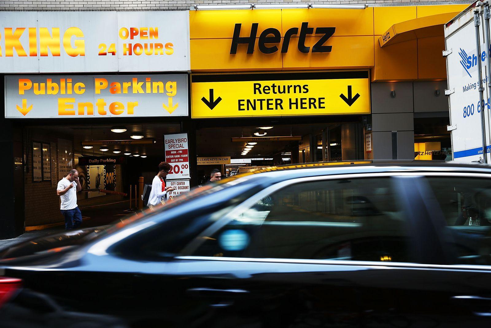 Hertz Autovermietung in Manhatten, New York