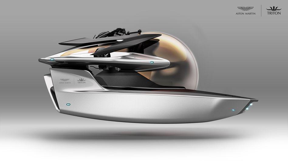 """""""Projekt Neptune"""": Aston Martin und Triton wollen pro Jahr ein Dutzend der Mini-U-Boote bauen."""