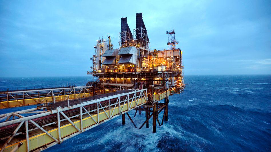 Ölplattform auf der Nordsee: Die Ölpreise fallen wieder
