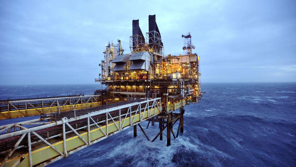 Öl-Bohrinsel in der Nordsee