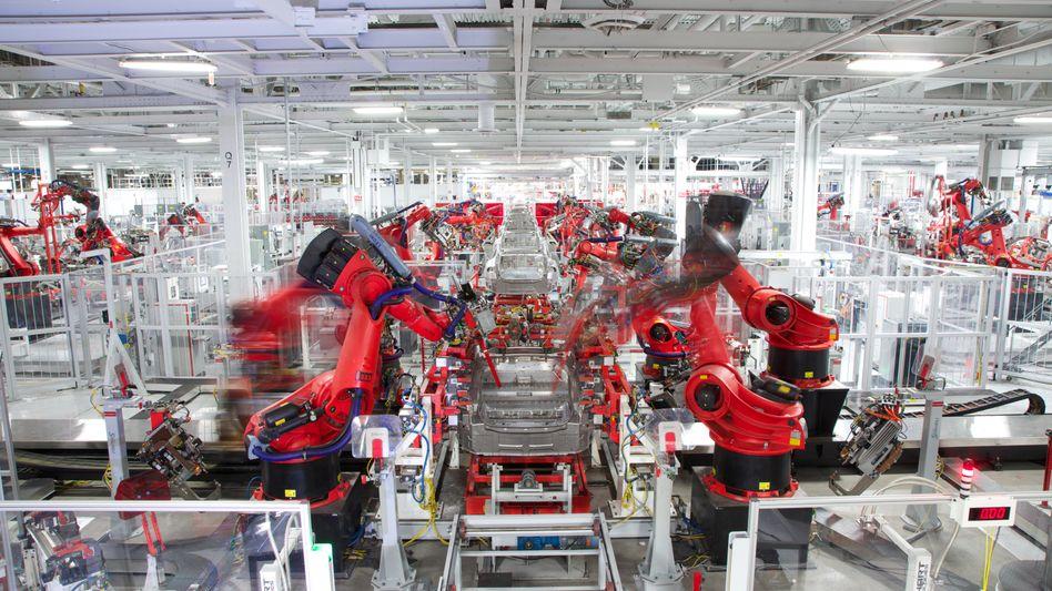 Tesla-Produktion in Freemont