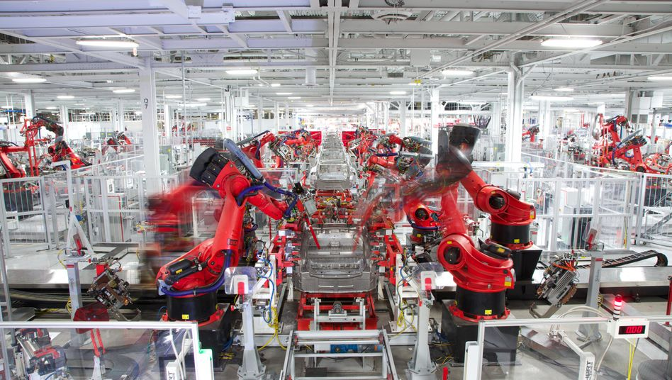 Tesla-Fabrik in Fremont, Kalifornien (Bild Archiv)