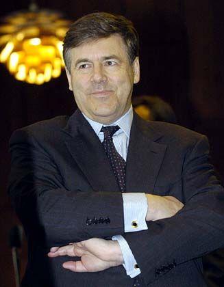 Tag acht auch für den Deutsche-Bank-Chef: Josef Ackermann im Landgericht in Düsseldorf.
