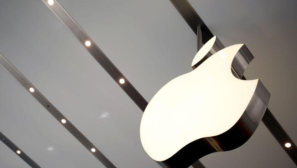 Apple-Logo in einem Geschäft