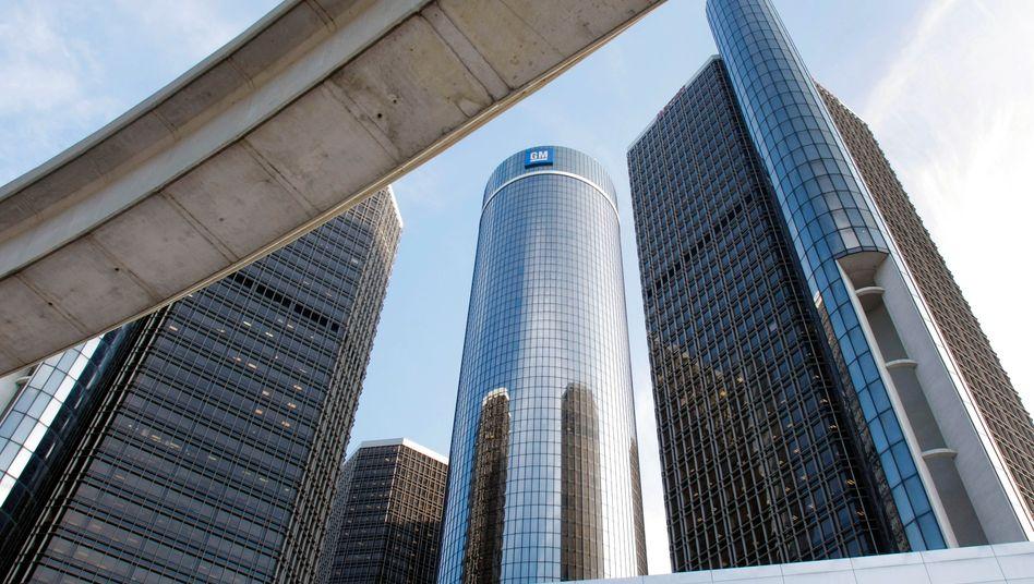 Hauptquartier von General Motors in Detroit, Michigan