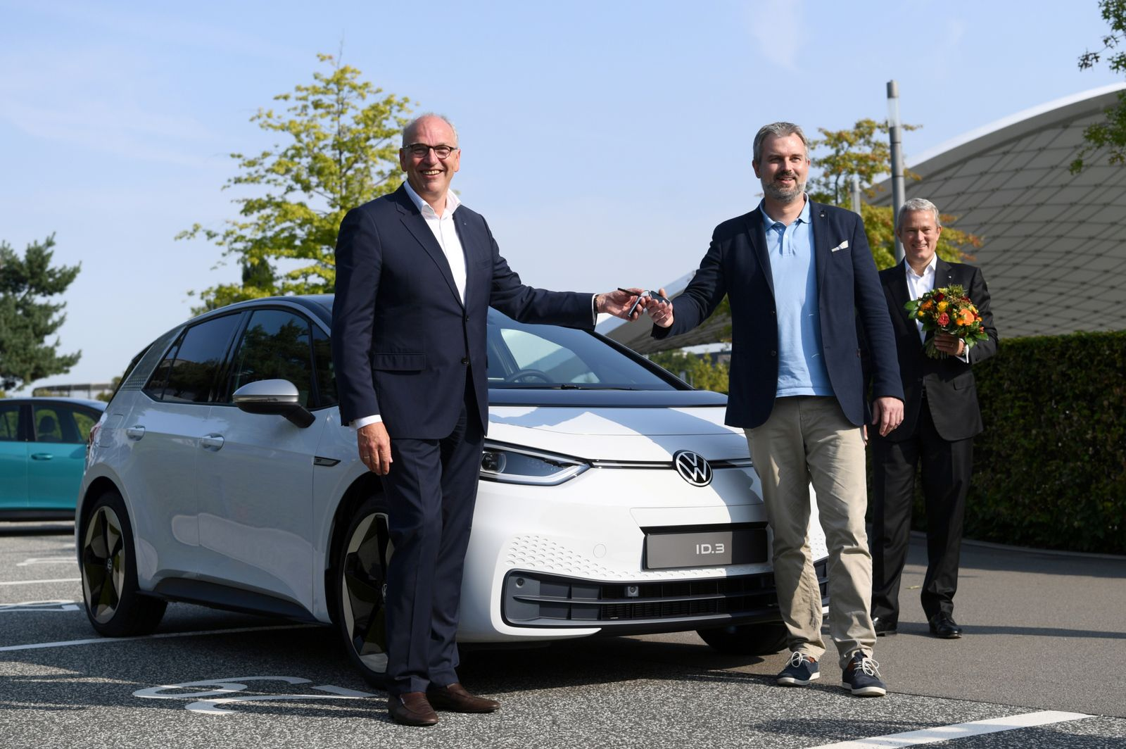 German automaker Volkswagen delivers its new electric car, the ID.3 in Wolfsburg