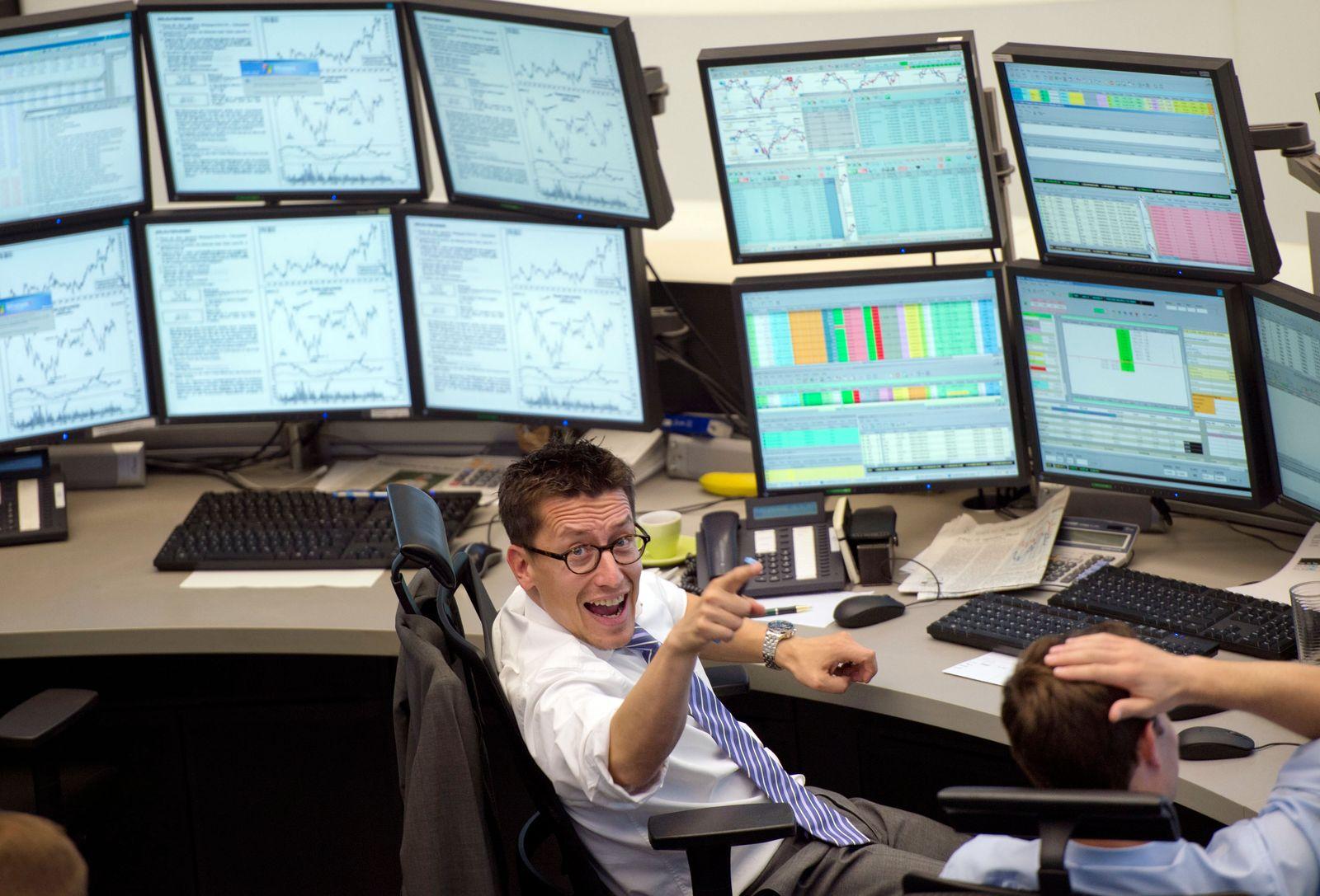 NICHT VERWENDEN Börse Frankfurt / DAX / Händler / neutral