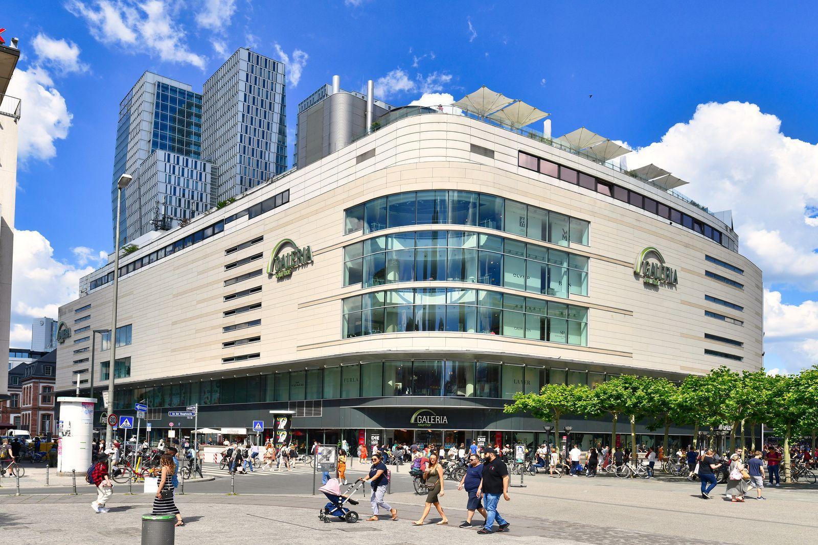 'Galeria Kaufhof' Einkaufszentrum an der Hauptwache in Frankfurt, Deutschland