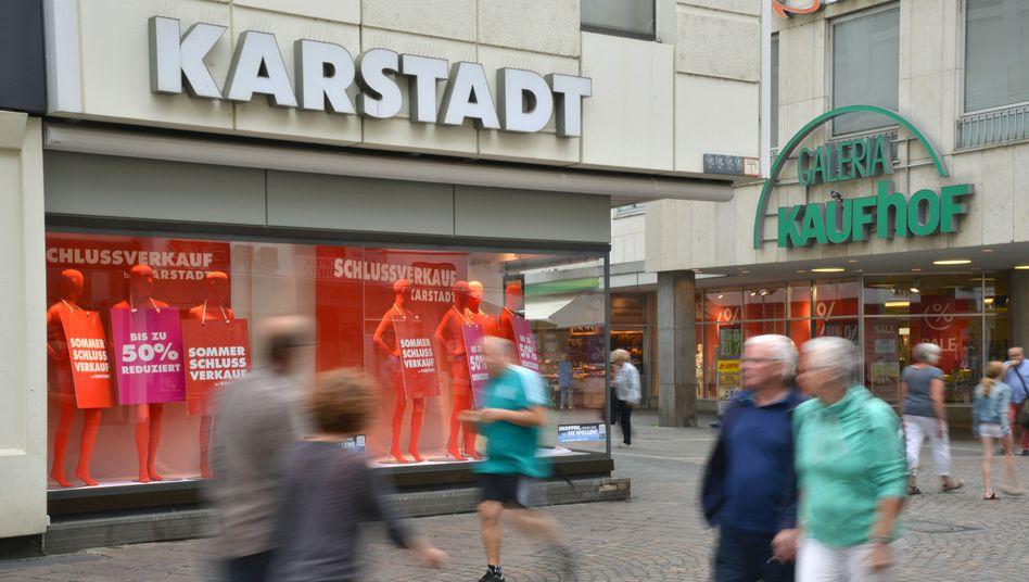 Warenhäuser von Karstadt und Kaufhof in Trier: Der Handelskonzern steht in der Corona-Krise erneut unter Druck