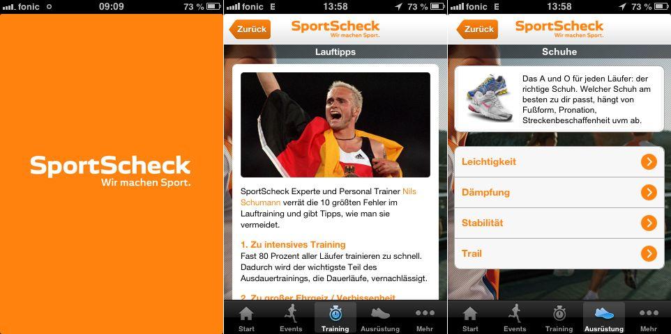 Laufapp / SportScheck