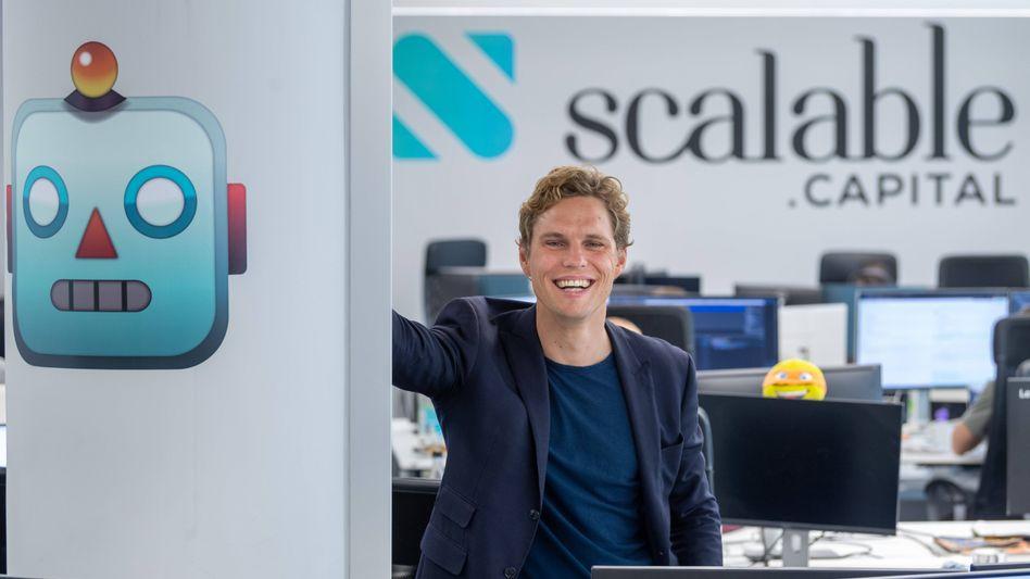 """Plötzlich """"Einhorn"""": Scalable-Chef Erik Podzuweit kann sich dank frischer Investorengelder über eine Bewertung seines Onlinebrokers von mehr als einer Milliarde Dollar freuen"""