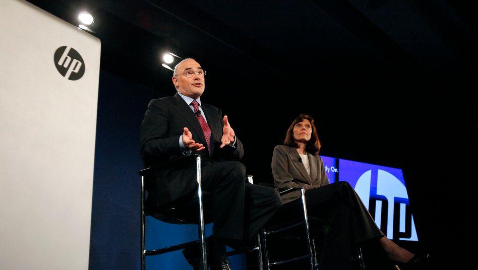 Zwei Herzen und zwei Seelen: Der damalige HP-CEO Léo Apotheker und seine Finanzchefin Cathie Lesjak im März 2011.