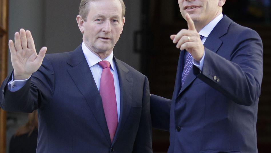 Der irische Premier Enda Kenny: Irland will wieder auf eigenen Füßen stehen