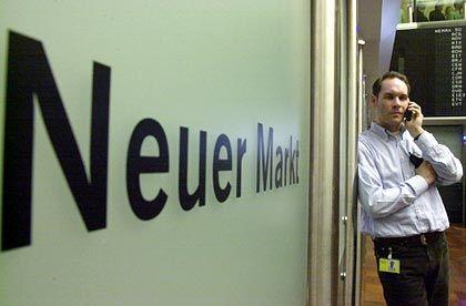 """Verschwunden: Das Börsensegment """"Neuer Markt"""", auf dem auch Falk agierte, gibt es unter diesem Namen nicht mehr"""