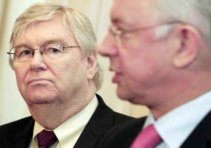 Krisentreffen: GM-Europa-Chef Reilly und Hessens Ministerpräsident Koch
