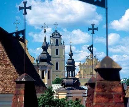 Kirchtürme in Vilnius: Litauen hat gute Chancen, als erstes EU-Ostland den Euro einführen zu können