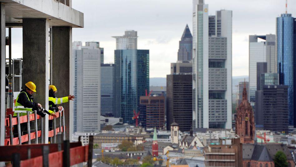 Bauarbeiter in Frankfurt: 12,5 Prozent mehr Auftragsvolumen als ein Jahr zuvor
