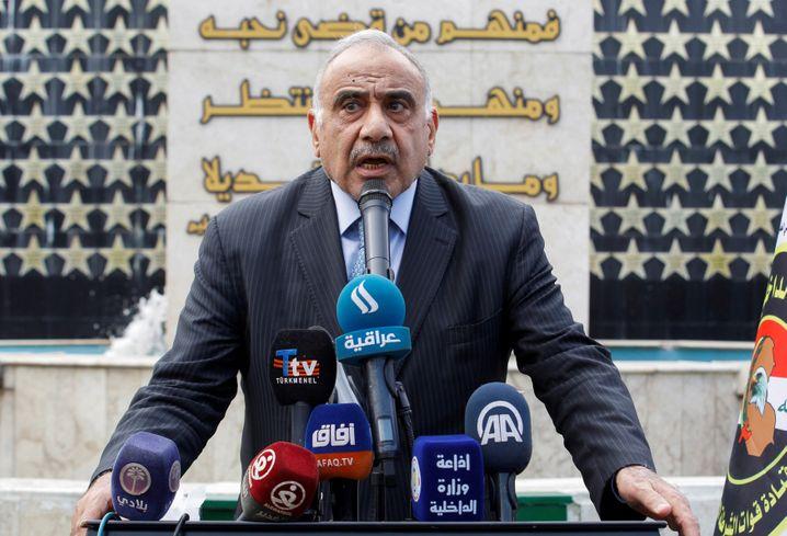 """Adel Abdul Mahdi: Iraks Ministerpräsident warnt vor einem """"zerstörerischen umfassenden Krieg"""" im Irak"""