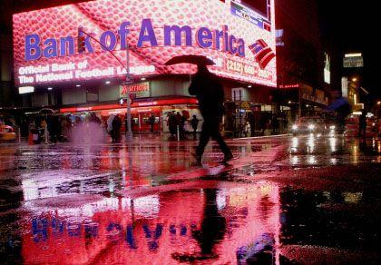 Blutrot: Die Bilanz der Bank of America sieht nicht gut aus