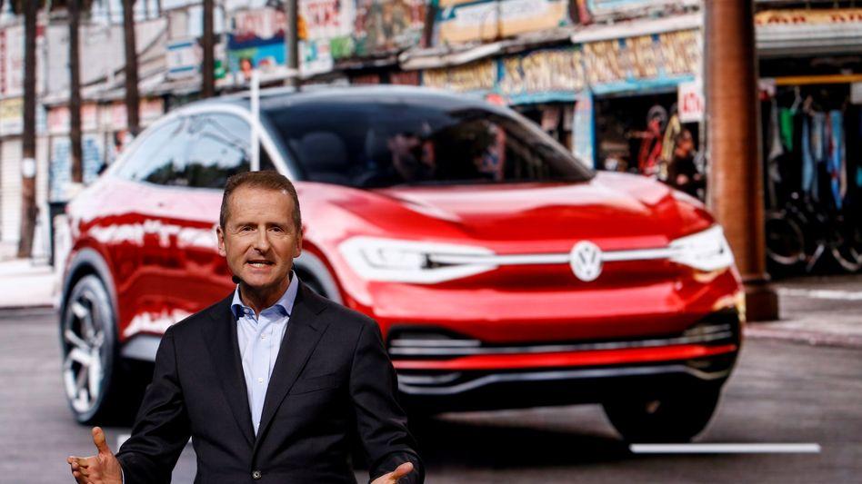 Strom, schneller: VW-Chef Herbert Diess will den I.D. zum Elektro-Pendant des Golf aufbauen. Dazu aber braucht es Ladestationen.