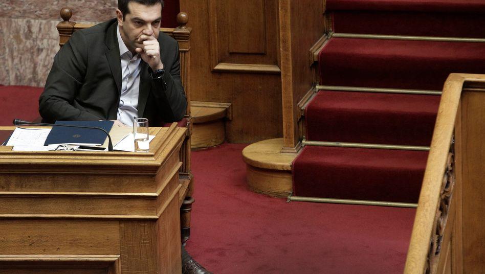 Griechisches Parlament: Premier Tsipras verspricht rasche Reformen