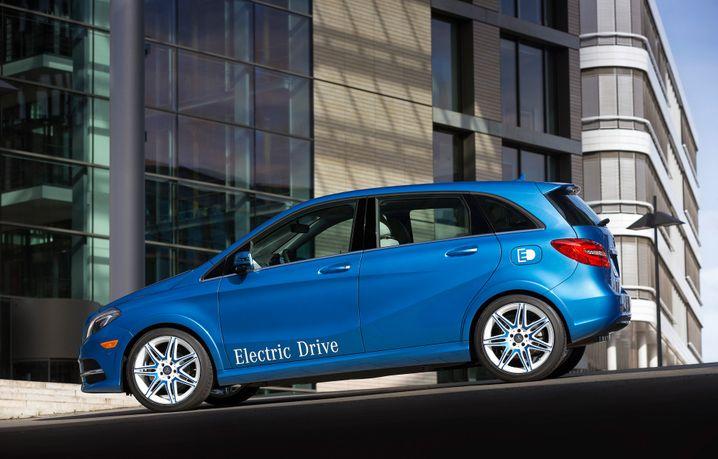 Elektroauto-Version der Mercedes B-Klasse: Künftig dürfte Daimler wohl auf Batterien und Antriebstechnik von Tesla verzichten