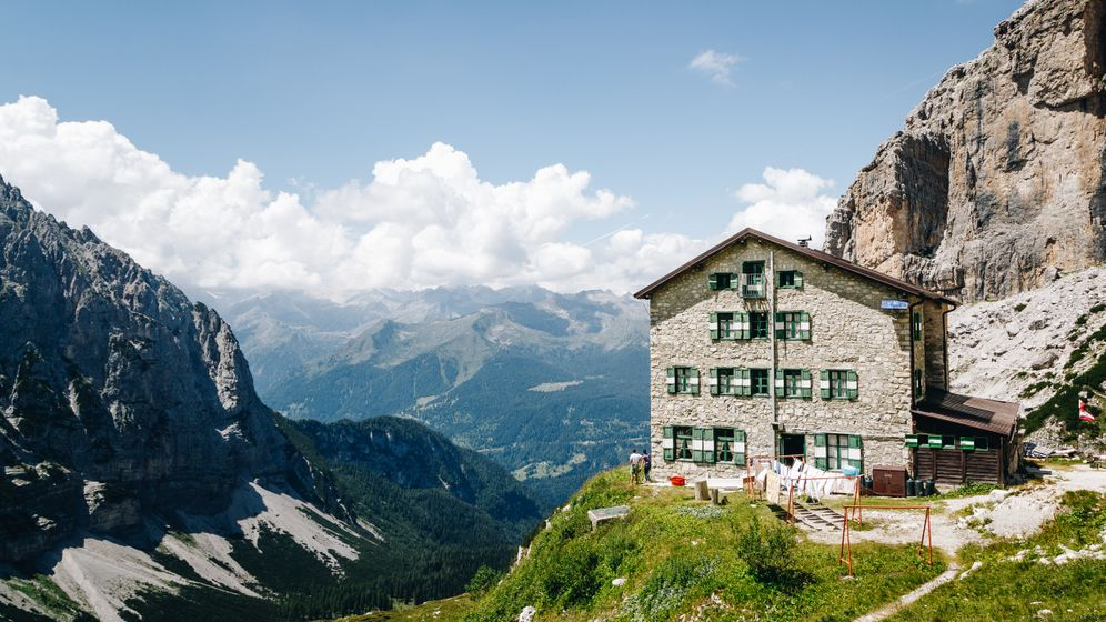 Brenteihütte: Die Dolomiten in den norditalienischen Alpen gehören zu den schönsten und beliebtesten Zielen von Bergsportlern