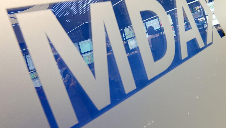 MDax-Schild an der Frankfurter Börse: Die Mittelwerte performen besser als der Dax