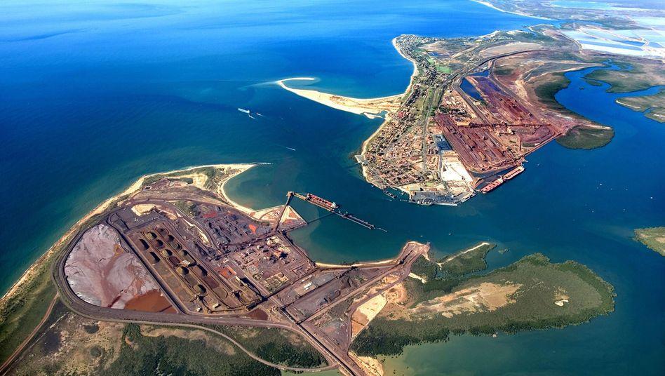 Alles für Chinas Stahlnachfrage: Eisenerzhafen Port Hedland von BHP Billiton in Nordwestaustralien
