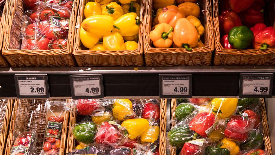 Gemüse und andere Lebensmittel sind in Deutschland im europäischen Vergleich günstig