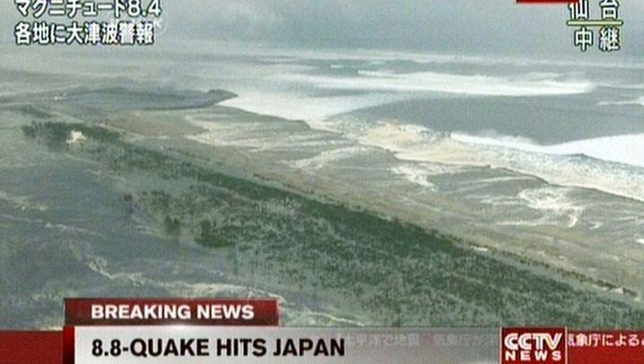 Japan: Hohe Tsunami-Welle trifft die Küste