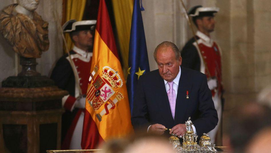 Pünktlich abgedankt: Ex-König Juan Carlos de Borbón y Borbón-Dos Sicilias