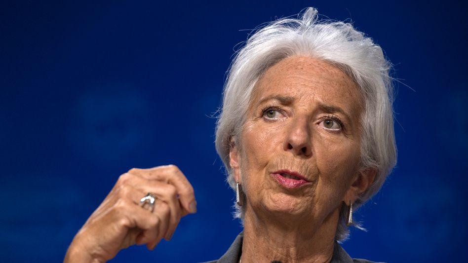 """Christine Lagarde: Die EZB-Chefin sieht eine """"starke Erholung"""" in der Euro-Zone. Die Wirtschaft werde 2020 wohl nur um 8 Prozent einbrechen"""