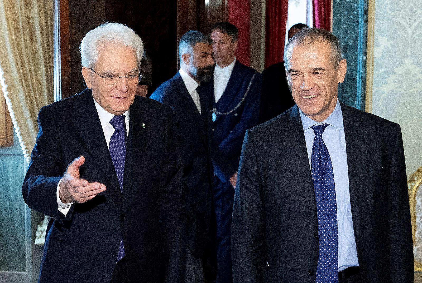 Sergio Mattarella / Carlo Cottarelli