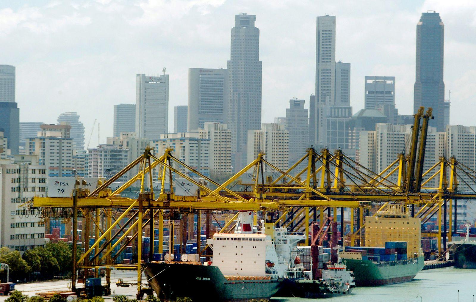 Hafen Singapur / Weltwirtschaft / Containerhafen / Handel