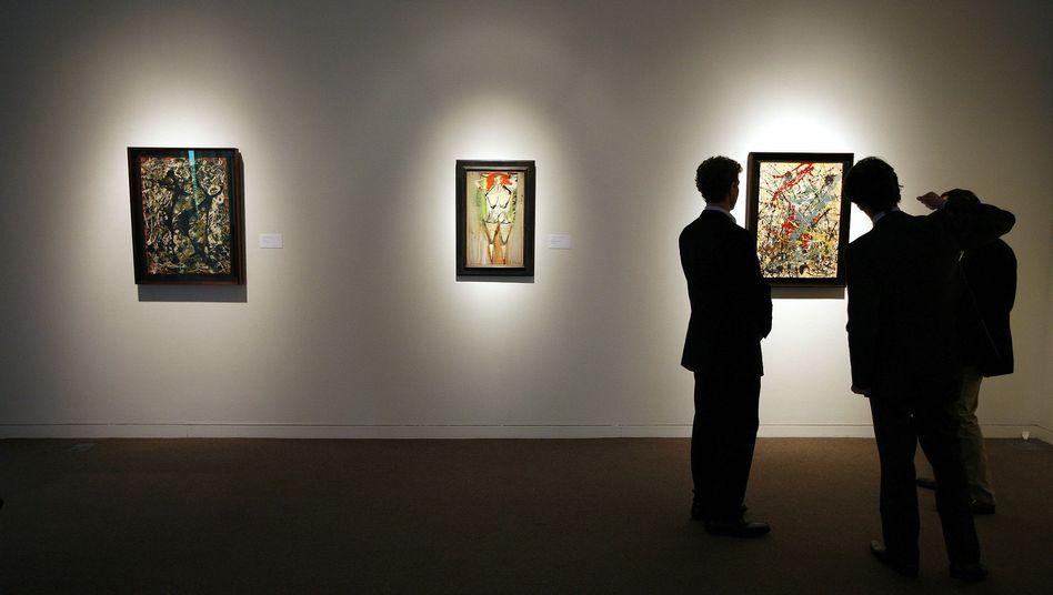 """Ausstellung von Jackson-Pollock-Bildern: Hoher Auktionserlös für Bild """"Number 19, 1948"""""""
