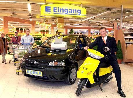 Autoverkauf im Supermarkt
