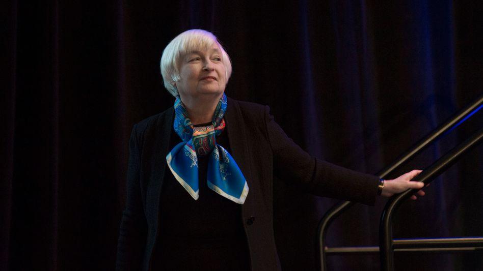 US-Notenbankchefin Janet Yellen musste das Wochenende im Krankenhaus in Großbritannien verbringen