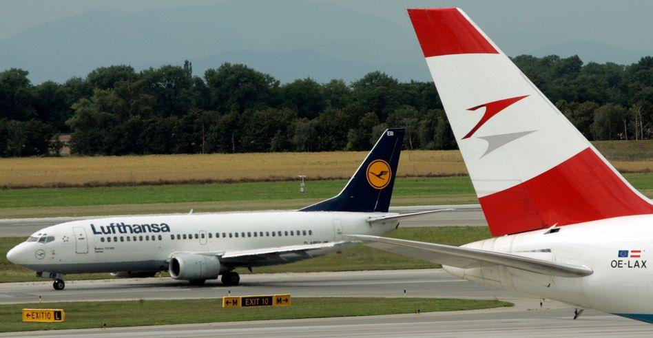 In Schwierigkeiten: Airlines wie Lufthansa und deren österreichische Tochter AUA sind von der Corona-Krise stark betroffen.