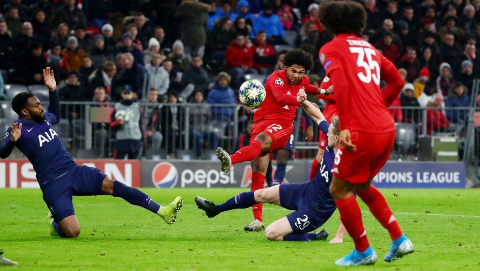 Champions-League-Spiel von Bayern München gegen Tottenham Hotspur