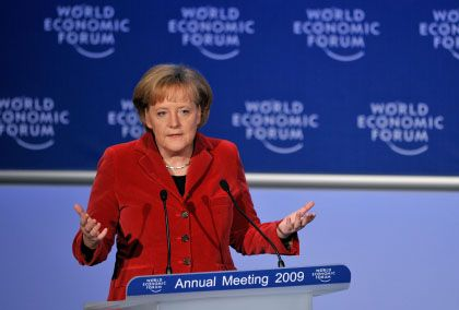 Warb im Vorjahr für die soziale Marktwirtschaft: WEF-Rednerin und Bundeskanzlerin Merkel