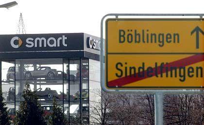 Smart-Verkaufsturm in Böblingen: Allein in der Zentrale sind 600 Jobs in Gefahr.